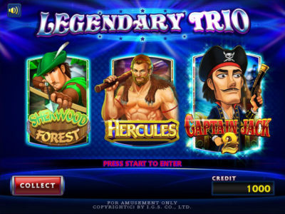 Legendary Trio Multigame